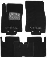 Коврики в салон для Nissan X-Trail (T32) '14- текстильные, черные (Премиум)