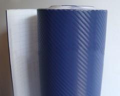 Синяя защитная плёнка под карбон 3D Graphjet (1 метр погонный)