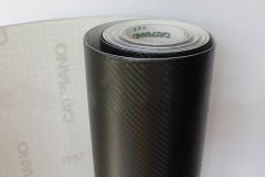 Чёрная защитная плёнка под карбон 3D Catpiano (1 метр погонный)