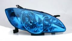 Синяя защитная плёнка для тонирования оптики КК (1 метр погонный)