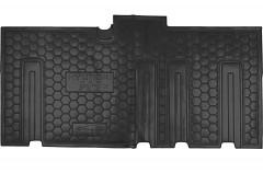 Коврики в салон для Hyundai H-1 '07- резиновые, черные, второй ряд (AVTO-Gumm)