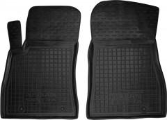 Коврики в салон передние для Nissan Sentra '14- резиновые, черные (AVTO-Gumm)