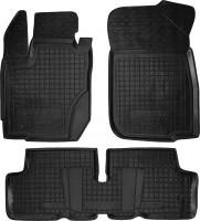 Коврики в салон для Renault Duster '15-18 резиновые, черные (AVTO-Gumm)