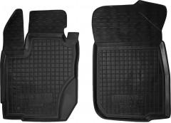 Коврики в салон передние для Renault Duster '15- резиновые, черные (AVTO-Gumm)