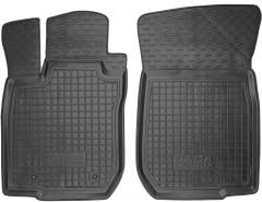 Коврики в салон передние для Lada (Ваз) Largus 12-, 5 мест резиновые, черные (AVTO-Gumm)