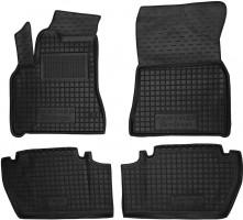 Коврики в салон для Citroen Berlingo '10- резиновые, черные, TOP с подлокотником (AVTO-Gumm)