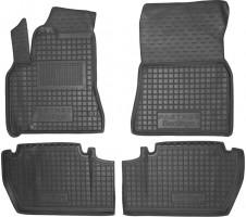 Коврики в салон для Peugeot Partner '10- резиновые, черные, TOP с подлокотником (AVTO-Gumm)