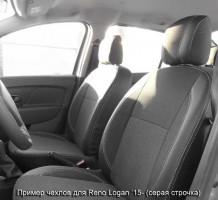 Авточехлы Premium для салона Renault Sandero Stepway '15- серая строчка, с деленой спинкой (MW Brothers)
