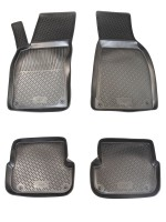 Коврики в салон для Audi A6 '05-10 полиуретановые, черные (L.Locker)