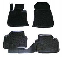 Коврики в салон для BMW 3 E90 '05-11 полиуретановые, черные (L.Locker)