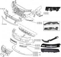 Накладка переднего бампера для Volkswagen Passat B6 '05-10, правая, черная (FPS)