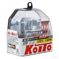 Автомобильная лампочка Koito Whitebeam III H9 12V kt p0759w (комплект: 2 шт)