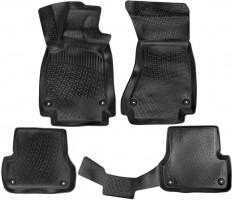 Коврики в салон для Audi A6 '14-, полиуретановые, черные (Lada Locker)