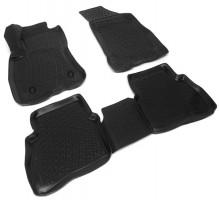 Коврики в салон для Fiat Doblo '15-, полиуретановые, черные (Lada Locker)