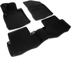 Коврики в салон для Peugeot 508 '11-, полиуретановые, черные (Lada Locker)