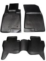 Коврики в салон для Mitsubishi Pajero Wagon 4 '07- полиуретановые, черные (L.Locker)