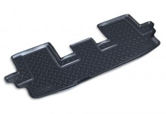 Коврики в салон для Chevrolet Trail Blazer '12-, 3 ряд , полиуретановые, черные (Nor-Plast)