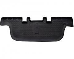 3 ряд ковриков в салон для Ford Explorer '11- полиуретановые, черные (Nor-Plast)