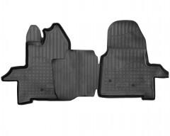 Коврики в салон для Ford Transit 2T '14-, полиуретановые, черные (Nor-Plast)