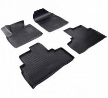 Коврики в салон для Kia Sorento '15-, полиуретановые, черные (Nor-Plast)