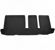 Коврики в салон для Nissan Pathfinder '14-, 3 ряд , полиуретановые, черные (Nor-Plast)