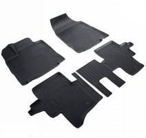 Коврики в салон для Nissan Pathfinder '14-, 5 мест , полиуретановые, черные (Nor-Plast)