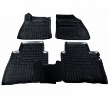 Коврики в салон для Nissan Sentra '14-, полиуретановые, черные (Nor-Plast)