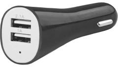 Адаптер USB автомобильный 12V/24V 2,1/1А черный (AUTO-WELLE) AW06-13B