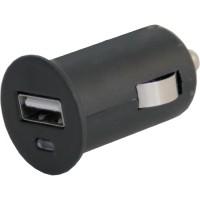 Адаптер USB автомобильный 12V/24V 1А черный (AUTO-WELLE) AW06-10B