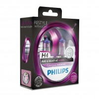 Автомобильные лампочки Philips ColorVision Purple H4 60/55W 12V (Комплект: 2шт.)