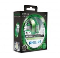 Автомобильные лампочки Philips ColorVision Green H7 55W 12V (Комплект: 2шт.)
