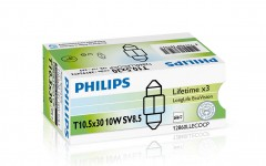Автомобильная лампочка Philips LongLife EcoVision 12860llecocp SV8.5 (T10,5x30), C10W 12 V