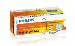 Автомобильная лампочка Philips Standard Vision 12864cp SV8.5 (T10,5x43), C5W 12 V