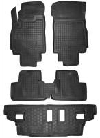 Коврики в салон для Chevrolet Orlando '11- резиновые, черные (AVTO-Gumm) 1+2+3 ряд