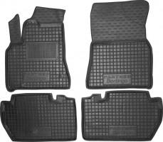 Коврики в салон для Peugeot Partner '08- резиновые, черные (AVTO-Gumm)