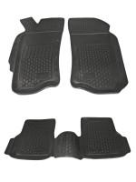 Коврики в салон для Fiat Albea '02-11 полиуретановые, черные (L.Locker)
