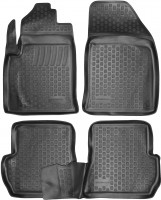 Коврики в салон для Ford Fiesta '02-09 полиуретановые, черные (L.Locker)