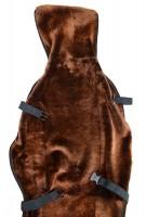 Меховая накидка на сиденье из овечьей шкуры универсальная кайен (коричневая) (1шт)