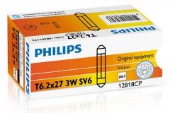 Автомобильная лампочка Philips Standard Vision 12818cp SV6 (T6,2х27), SV6 12 V