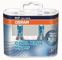Автомобильные лампочки Osram Cool Blue Hyper+ H7 55W 12V (Комплект: 2шт.)