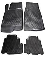 Коврики в салон для Chevrolet Captiva '06- полиуретановые, черные (L.Locker)