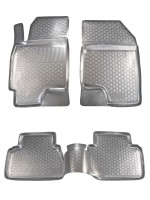 Коврики в салон для Chevrolet Epica '07-12 полиуретановые, серые (L.Locker)