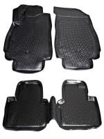 Коврики в салон для Chevrolet Orlando '11- полиуретановые, черные (L.Locker) 1+2 ряд сидений