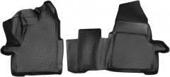 Коврики в салон для Ford Transit 2T '14-, полиуретановые, черные, передние (Lada Locker)