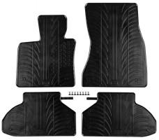 Коврики в салон для BMW X6 F16 '15- резиновые (GledRing)