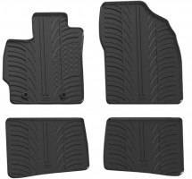 Коврики в салон для Toyota Prius '09-12 резиновые, черные (GledRing)