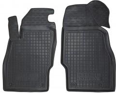 Коврики в салон передние для Opel Corsa E '14- резиновые, черные (AVTO-Gumm)