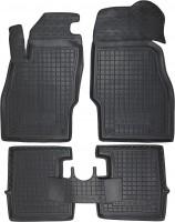 Коврики в салон для Opel Corsa E '14- резиновые, черные (AVTO-Gumm)