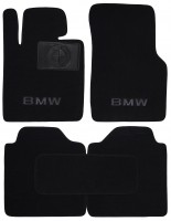Коврики в салон для BMW 3 F34 GT '13- текстильные, черные (Люкс)