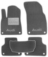 Textile-Pro Коврики в салон для Audi Q7 с 2015- текстильные, серые (Люкс) 8 клипс